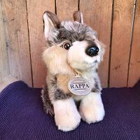 Wolf zittend - ca. 18 cm - eco-vriendelijk
