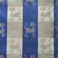 Theedoek met kattendessin - blauw