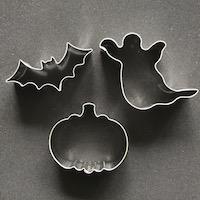 Halloween mix: vleermuis, spook, pompoen