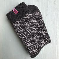 Noorse wollen sokken, donkergrijs - maat 35-38