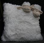 Kussen met schapenkopjes, wit, ca. 35x35 cm