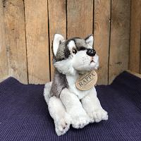 Wolf, zittend, ca. 15 cm