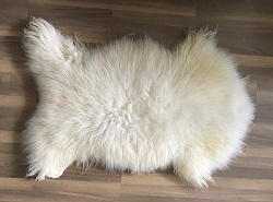 Lamsvacht wit, ca. 130x90 cm
