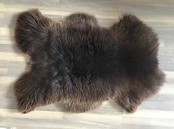 Lamsvacht bruin gemêleerd, ca. 100x70 cm