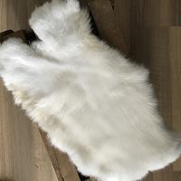 konijnenvacht - wit gemeleerd