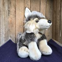 Wolf, zittend, ca. 30 cm