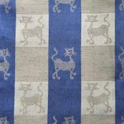 Kattendessin theedoek - blauw