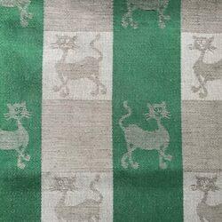 Kattendessin theedoek - groen