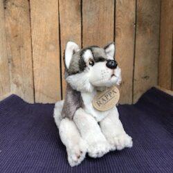 Wolf zittend - ca. 15 cm - eco-vriendelijk