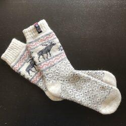 Noorse sokken met elandmotief